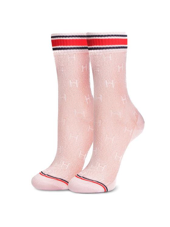 Tommy Hilfiger Tommy Hilfiger Σετ 2 ζευγάρια ψηλές κάλτσες γυναικείες 393008001 Ροζ