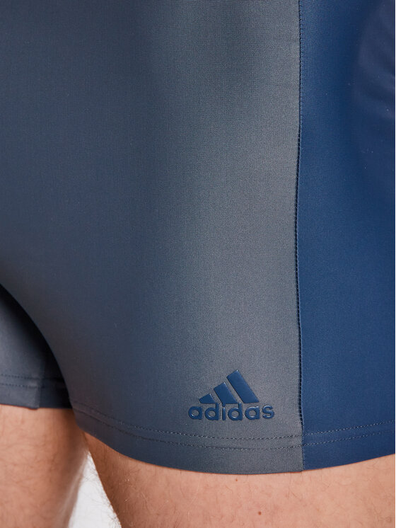 adidas adidas Kąpielówki Fit 3Second Bx GM3542 Szary Slim Fit