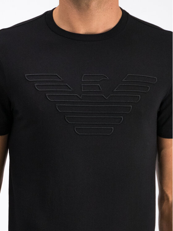 Emporio Armani Emporio Armani T-Shirt 6G1TC1 1J19Z 0999 Černá Regular Fit