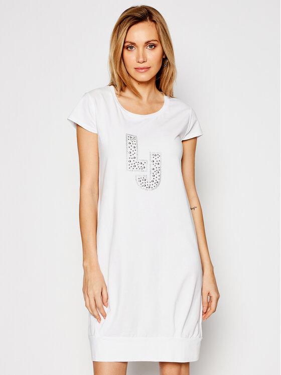 Liu Jo Beachwear Kasdieninė suknelė VA1091 J5003 Balta Regular Fit