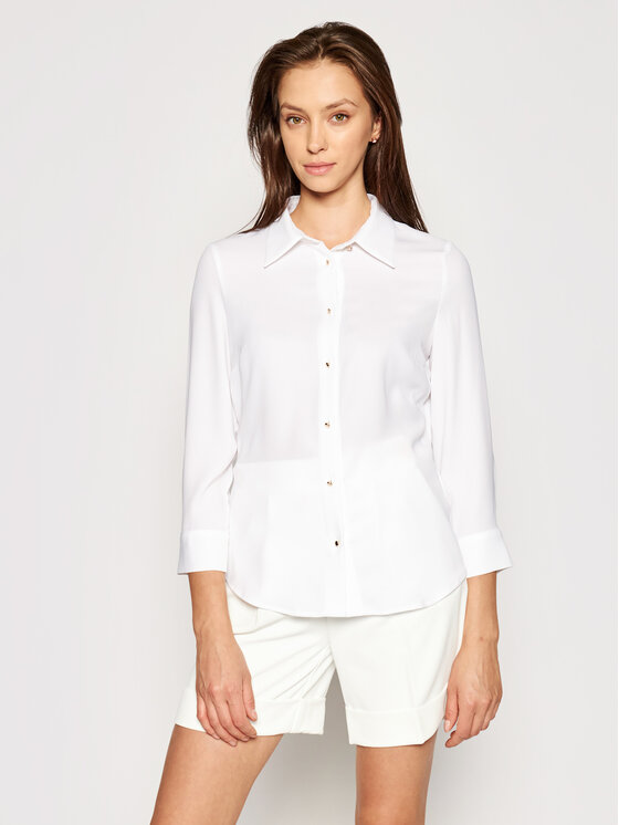 Marciano Guess Marškiniai 1GG457 9548Z Balta Slim Fit