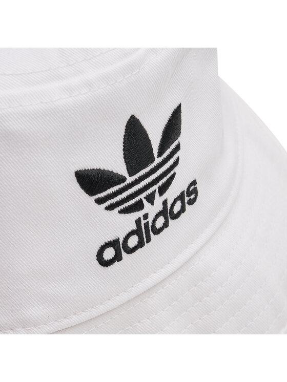 adidas adidas Kapelusz Trefoil Bucket Hat FQ4641 Biały