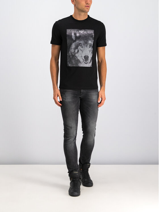 Emporio Armani Emporio Armani T-Shirt 6G1T77 1J19Z 0922 Czarny Regular Fit