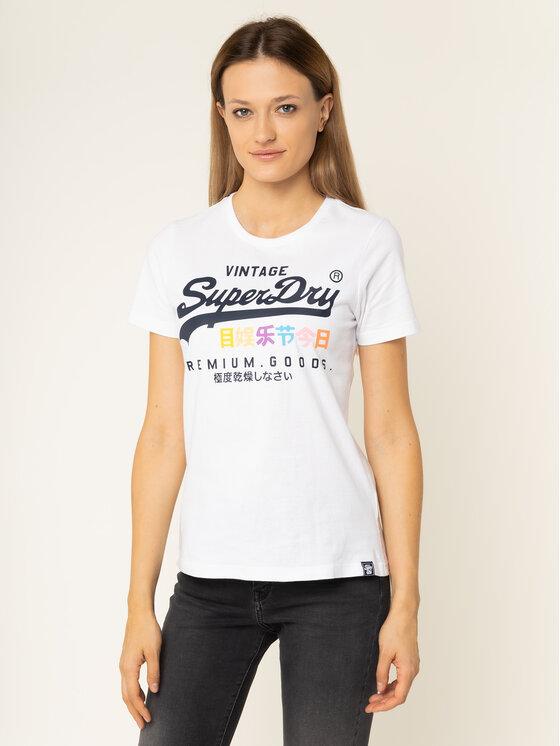 Superdry Superdry T-Shirt Premium Goods Puff G10306AU Biały Regular Fit