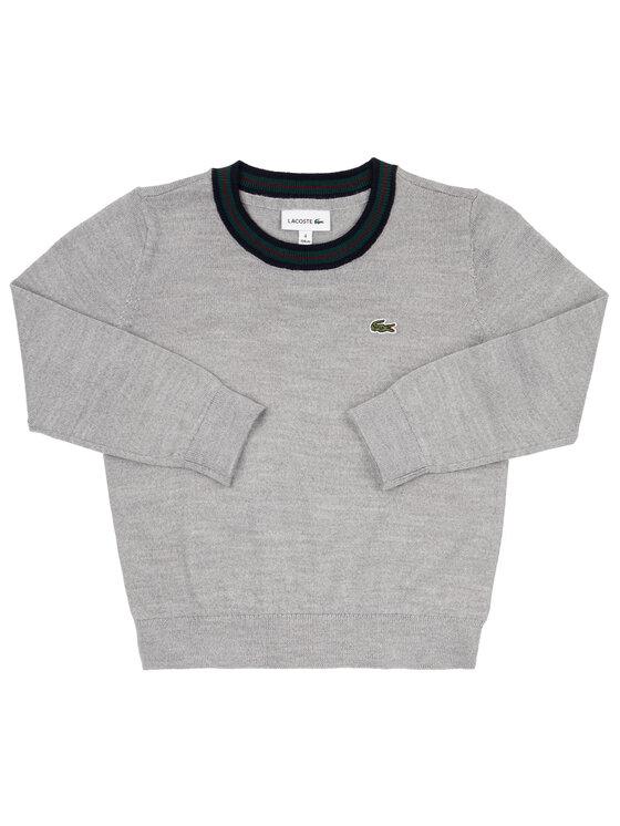 Lacoste Lacoste Sweter AJ8087 Szary Regular Fit