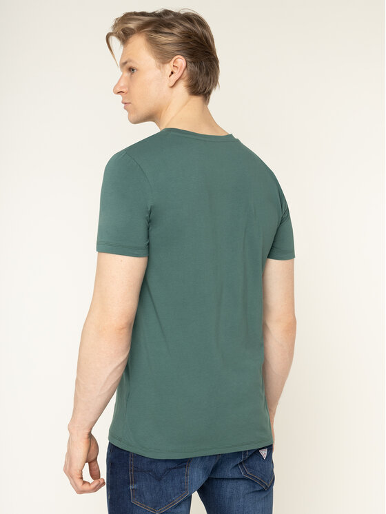 Guess Guess T-Shirt U94M09 JR00A Πράσινο Regular Fit