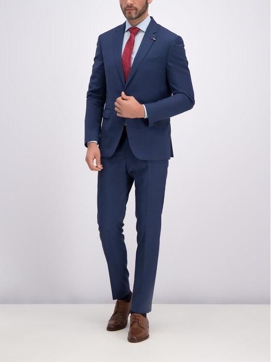 Tommy Hilfiger Tailored Tommy Hilfiger Tailored Sacou TT0TT05488 Bleumarin Slim Fit