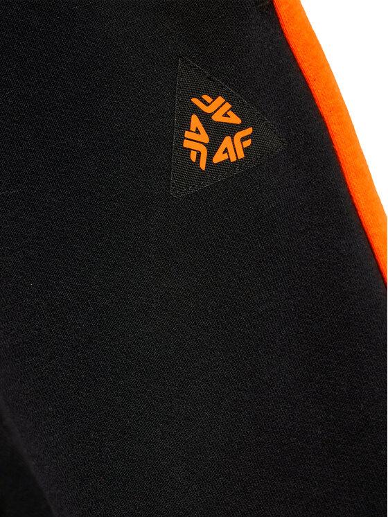 4F 4F Spodnie dresowe JSPMD003 Czarny Slim Fit