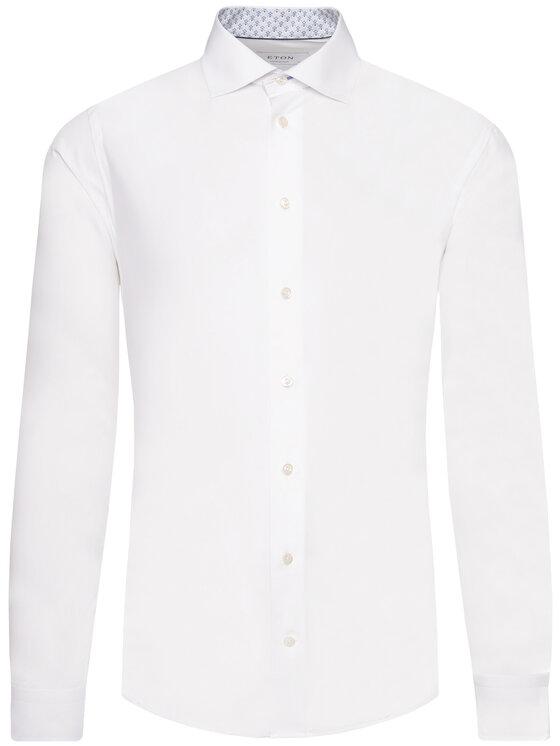 Eton Eton Chemise 100000976 Blanc Regular Fit