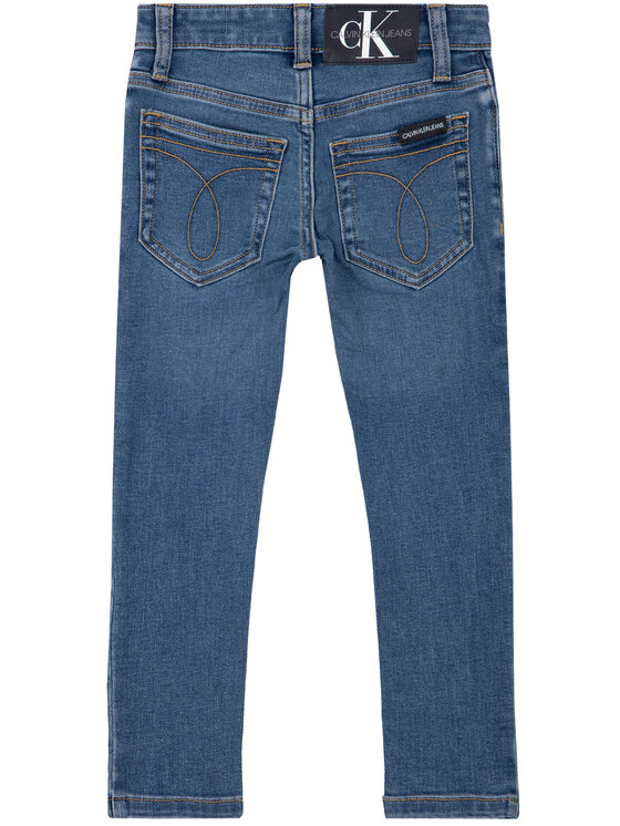 Calvin Klein Jeans Calvin Klein Jeans Jeansy Essential Fresh IB0IB00337 Granatowy Skinny Fit