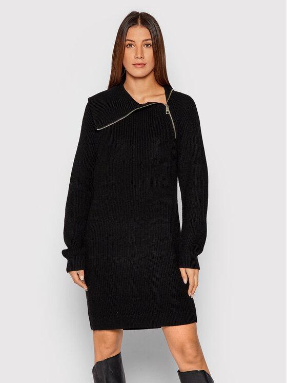 Liu Jo Liu Jo Džemper haljina WF1423 MA51I Crna Regular Fit