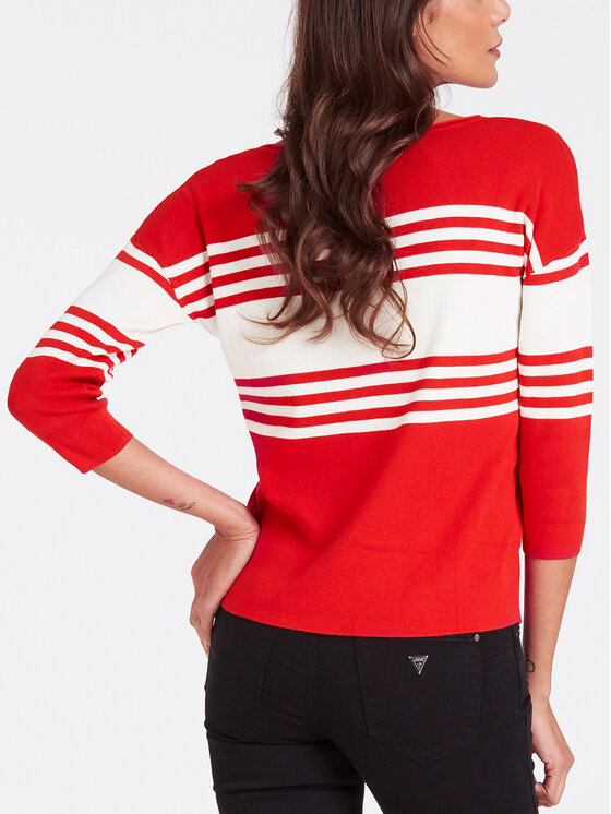Guess Guess Sweter W93R90 Z2G00 Czerwony Regular Fit