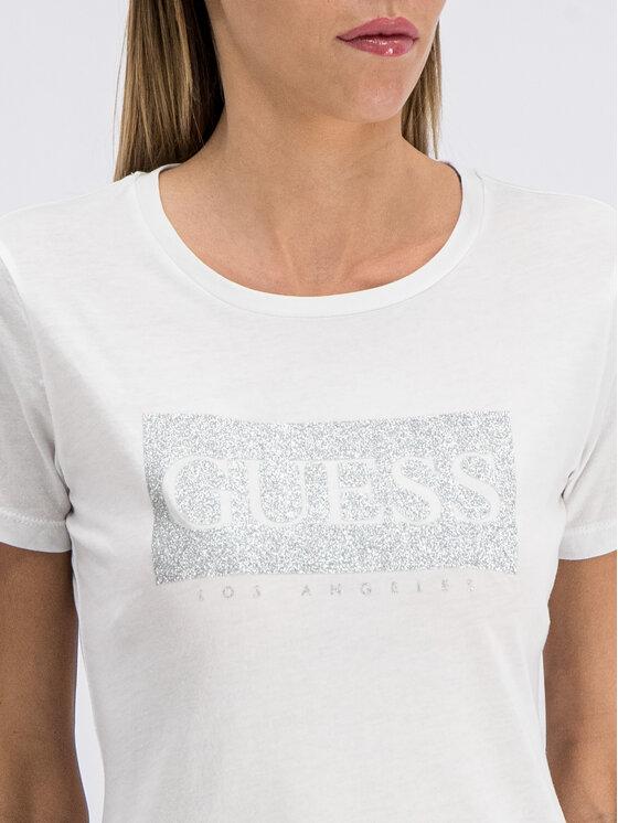 Guess Guess Tričko W93I80 K7WS0 Biela Slim Fit