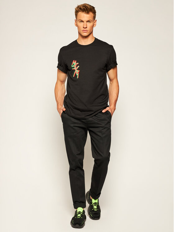 MSGM MSGM T-Shirt 2940MM70 207598 Černá Regular Fit