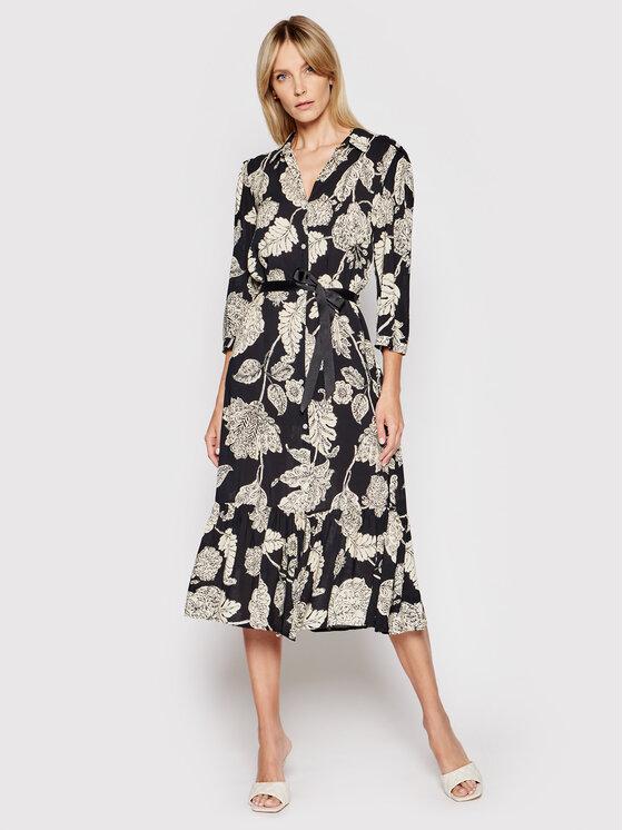 Rinascimento Marškinių tipo suknelė CFC0017773002 Juoda Regular Fit