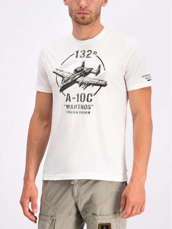 Aeronautica Militare Aeronautica Militare Tricou 191TS1601J404 Alb Regular Fit