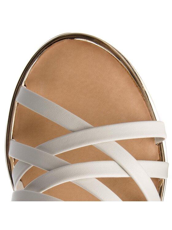 Tommy Hilfiger Tommy Hilfiger Sandály Leather Strappy Flat Sandal FW0FW02228 Bílá