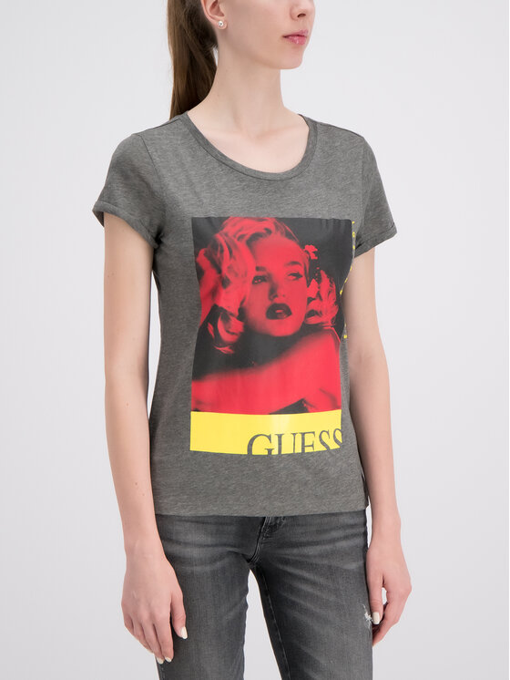 Guess Guess T-Shirt W93I78 K19U1 Szary Regular Fit