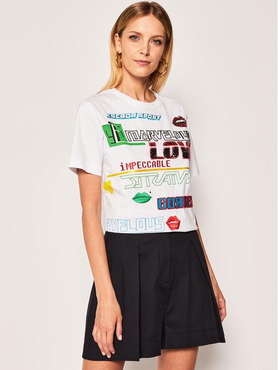 Escada Sport Marškinėliai Esprai 5032856 Balta Regular Fit