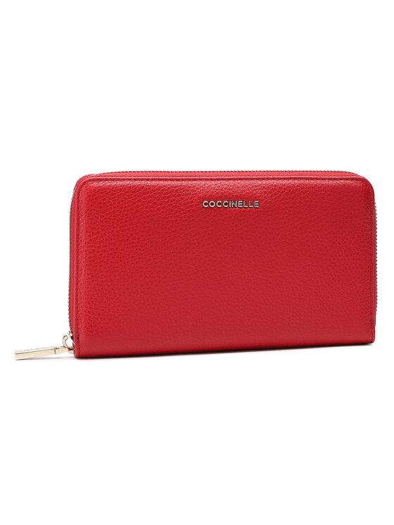 Coccinelle Coccinelle Duży Portfel Damski HW5 Metallic Soft E2 HW5 11 32 01 Czerwony