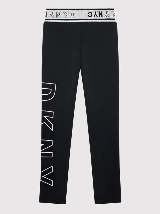 DKNY DKNY Leggings D34A38 M Crna Slim Fit