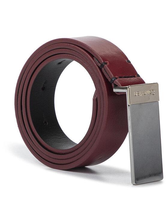 Calvin Klein Calvin Klein Дамски колан 2,5Cm Plaque Belt K60K605711 Бордо
