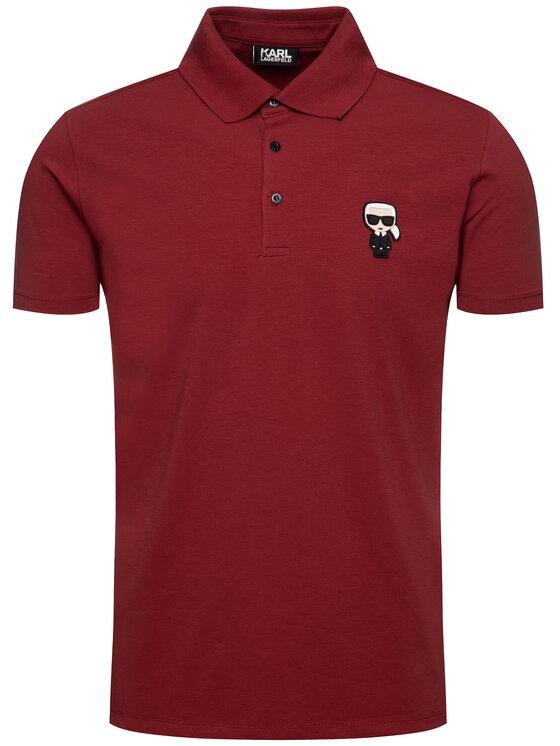 KARL LAGERFELD KARL LAGERFELD Polo marškinėliai 755019 592221 Raudona Regular Fit