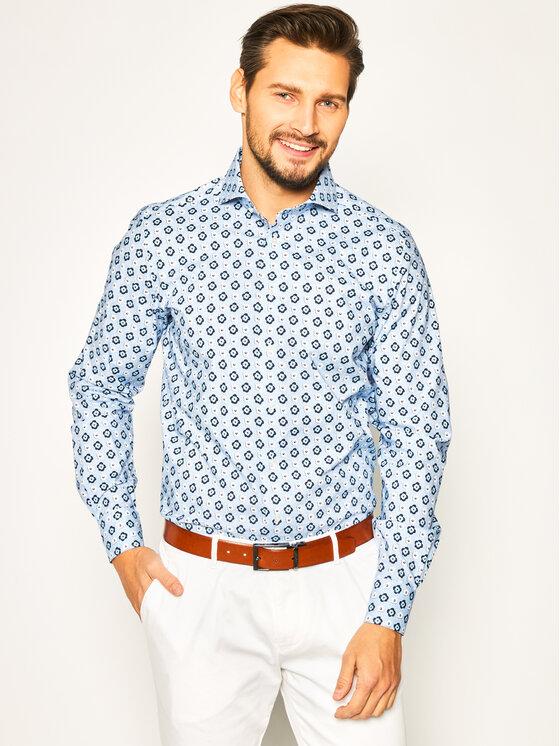 Emanuel Berg Marškiniai Harvard PEB47732 Mėlyna Modern Fit