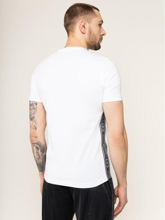 EA7 Emporio Armani EA7 Emporio Armani T-Shirt 3HPT07 PJ03Z 1100 Biały Slim Fit