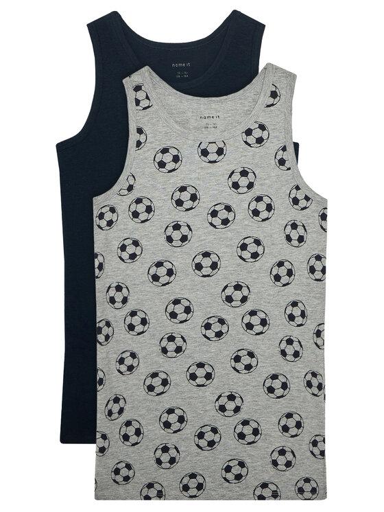 NAME IT 2 marškinėlių komplektas 13177800 Pilka Slim Fit