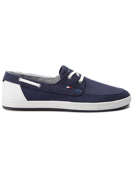 Tommy Hilfiger Tommy Hilfiger Mokasyny Seasonal Core Boat Shoe Sneaker FM0FM02205 Granatowy
