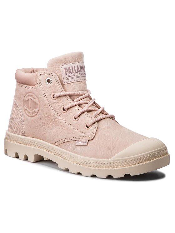 Palladium Žygio batai Low Cuf Lea W 95561-677-M Rožinė
