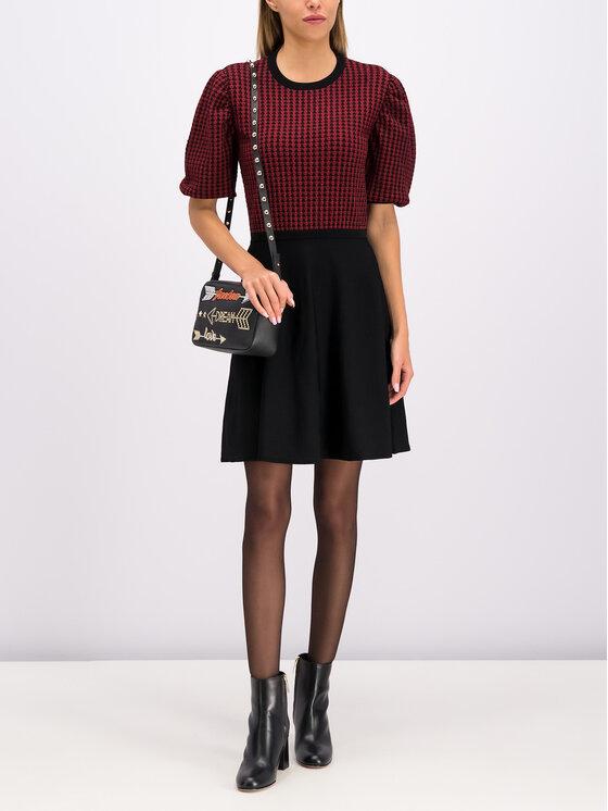 Red Valentino Red Valentino Trikotažinė suknelė SR3KDA77 Juoda Regular Fit