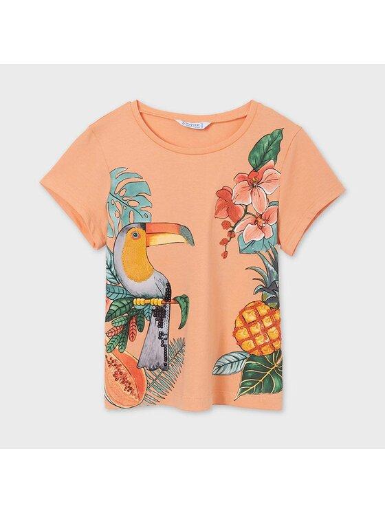 Mayoral T-Shirt 6020 Pomarańczowy Regular Fit