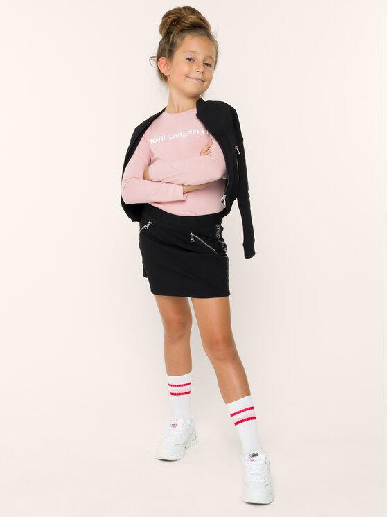 KARL LAGERFELD KARL LAGERFELD Bluzka Z15208 S Różowy Regular Fit
