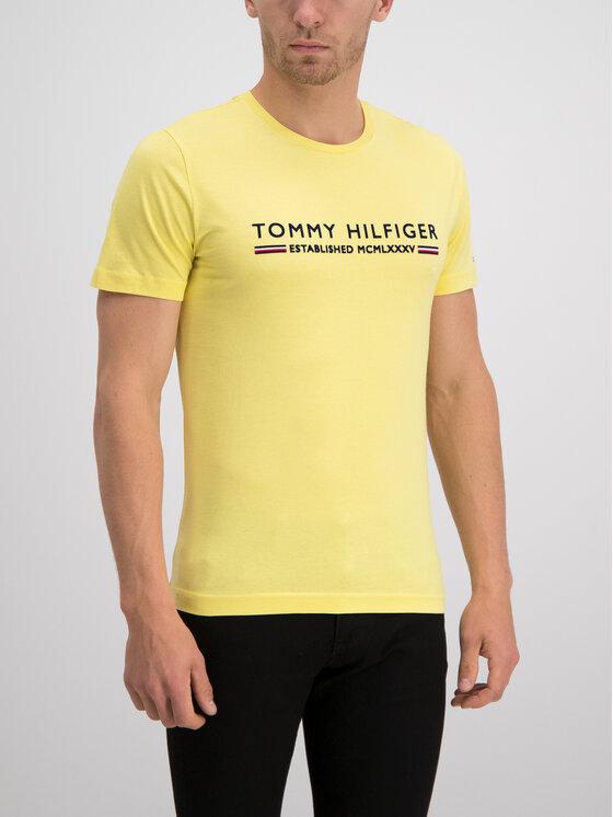 Tommy Hilfiger Tommy Hilfiger T-Shirt Essential Tee MW0MW10812 Żółty Regular Fit