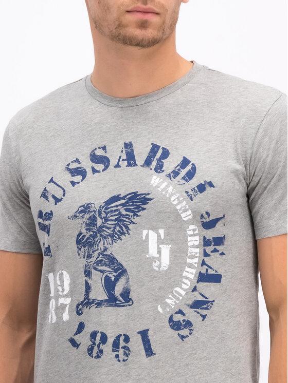 Trussardi Trussardi T-Shirt 52T00263 Γκρι Regular Fit