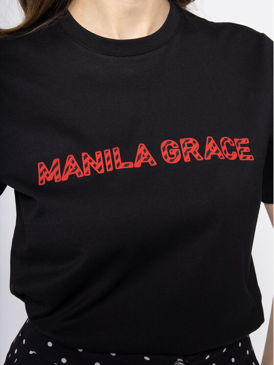 Manila Grace Manila Grace Тишърт T169CU Черен Regular Fit