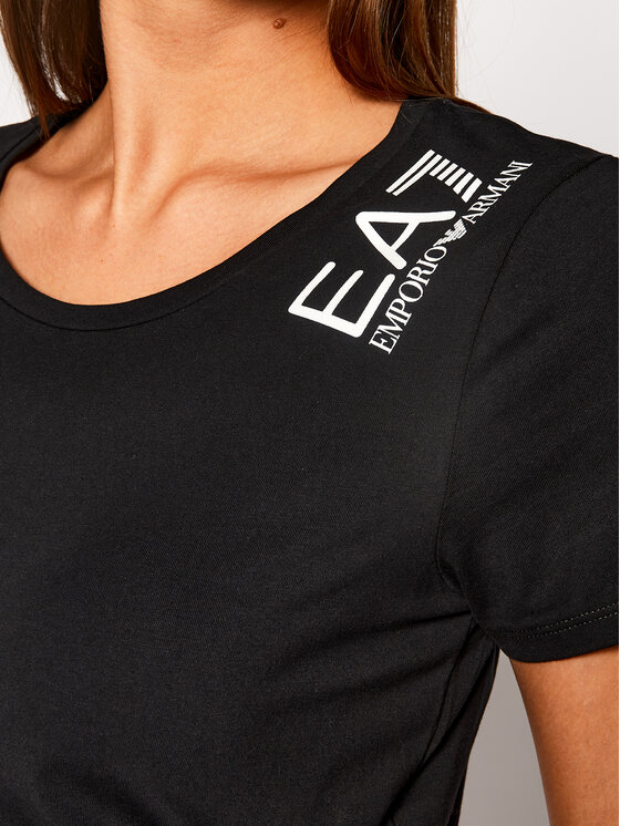 EA7 Emporio Armani EA7 Emporio Armani T-Shirt 6GTT12 TJ29Z 1200 Czarny Regular Fit