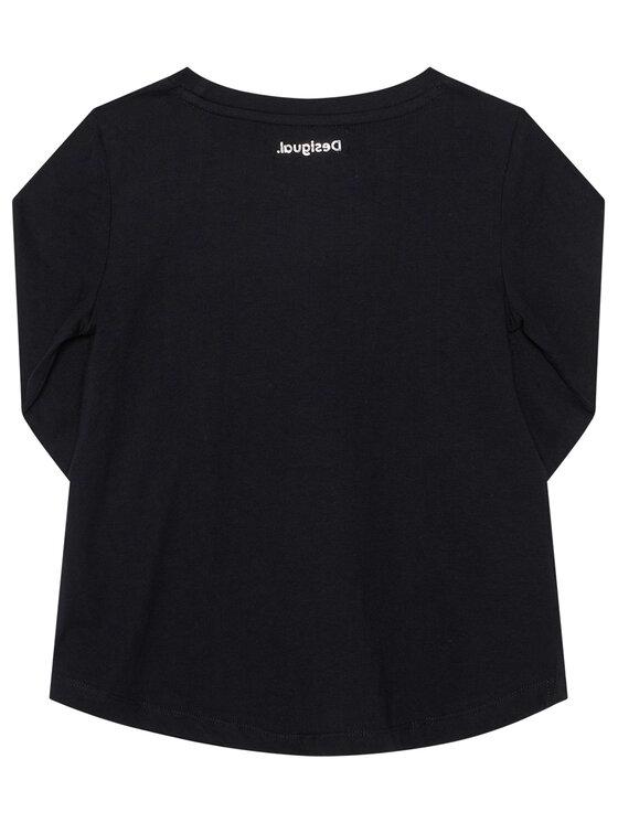 Desigual Desigual Bluzka Hidalgo 20WGTK89 Czarny Regular Fit