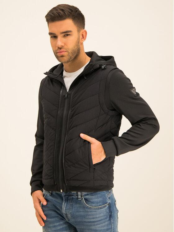 Guess Guess Átmeneti kabát M01L43 WCIA0 Fekete Regular Fit