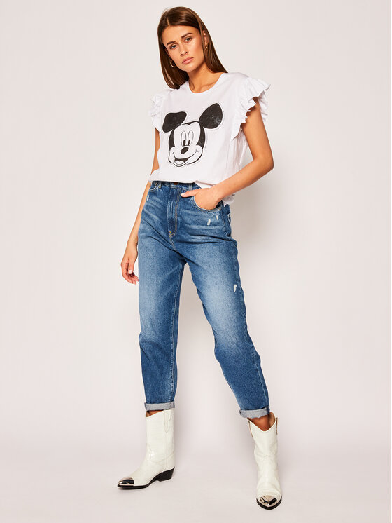 Liu Jo Liu Jo T-Shirt DISNEY FA0408 J5904 Λευκό Regular Fit
