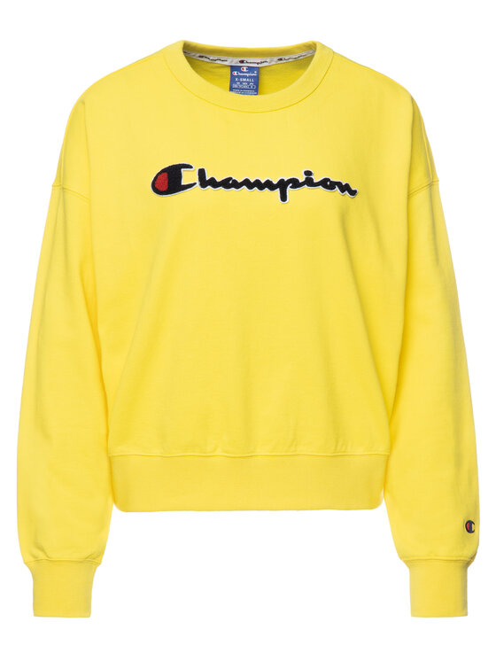 Champion Champion Bluza 111384 Żółty Oversize