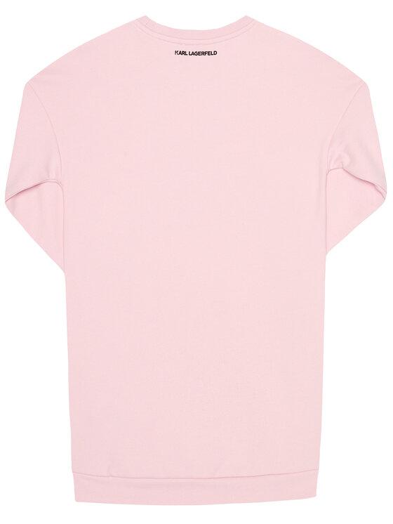 KARL LAGERFELD KARL LAGERFELD Sukienka codzienna Z12150 Różowy Regular Fit