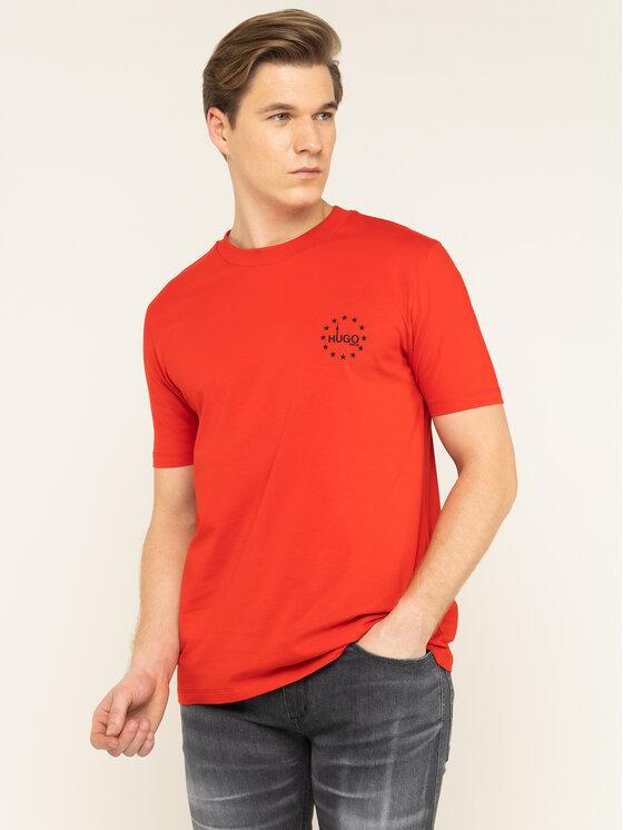 Hugo Hugo T-Shirt Dauber 50421646 Rot Regular Fit
