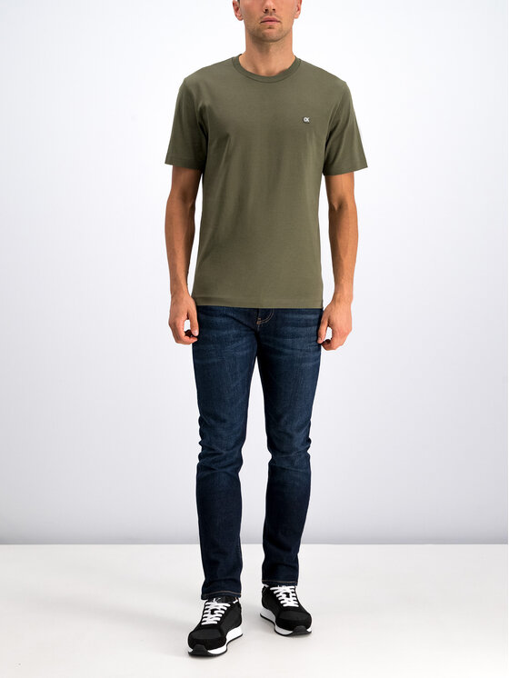 Calvin Klein Jeans Calvin Klein Jeans Marškinėliai J30J312807 Žalia Regular Fit