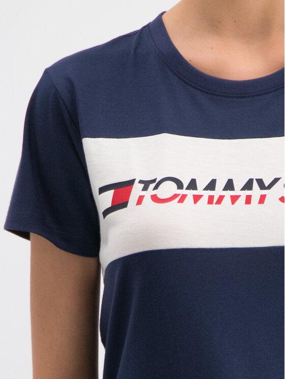 Tommy Sport Tommy Sport T-Shirt S10S100123 Σκούρο μπλε Regular Fit
