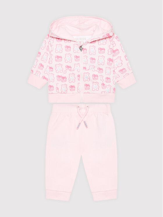 Guess Guess Dres H1YI00 KA6R0 Różowy Regular Fit