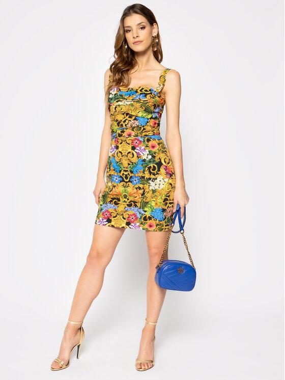 Versace Jeans Couture Versace Jeans Couture Коктейлна рокля D2HVA425 Цветен Slim Fit