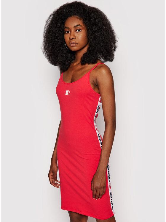 Starter Kasdieninė suknelė SDG-012-BD Raudona Slim Fit